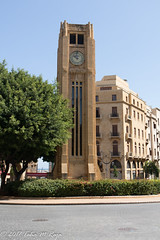 Central Clocktower of Downtown Beirut (taharaja) Tags: beach beirut church harissadaraoun masjid minaret mosque theshrineofourladyoflebanon amin byblos hariri harissa kaserwan lebanon mohammed mountlebanon ourladyoflebanon rafiq romanruins virginmary