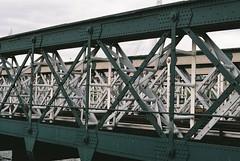 Hungerford Bridge (@JackLongman_Photo) Tags: isopush grain shootfilm ishootfilm film 35mm afgavista200 canoneos500n canon street westminster waterloo embankment train trains river thames thethames london bridges bridge hungerfordbridge