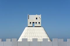 Little house on a hillock (on Explore) (Jan van der Wolf) Tags: map17059v house huis sculpture dissymmetry scheveningen art artwork beeld fat kunstwerk terp hillock kunst boulevard