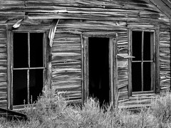 Entrance (dolmst) Tags: abandoned building bw comet ghosttown miningcamp monochrome montana