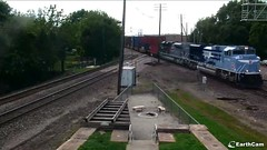 UP heritage locomotives at Rochelle (antennawizard) Tags: locomotives up uprr commemorative heritage 1982 1983 sd70ace emd missouripacific westernpacific rochelle illinois engine power diamond predecessor trainsmagazine web camera