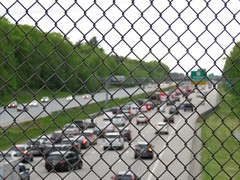 Memorial Day Weekend Traffic (ParkerRiverKid) Tags: scavenger7 ansh79 lifeisahighway highway fence holiday traffic