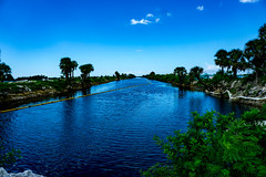 Gulf Waterway (Sonia Argenio Photography) Tags: evening fbsoniaargenio flickrsoniaargenio flickrbysoniaa green gulfofmexico soniaargeniophotography soniaargenio trees blue bluesky clouds daylight daytime evergreen florida palmtrees reflection water