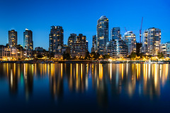 Night lights of Downtown Vancouver   .......Explored (Photography by Julia Martin) Tags: photographybyjuliamartin downtownvancouver vancouver nightlightsofdowntownvancouver vancouveratnight reflections cityskyline vancouverskyline britishcolumbia canada gastownvancouver eleven