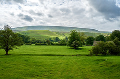 Changing Light (scottprice16) Tags: england lancashire downham farmhouse 1800s hills fells pennines forestofbowland aonb area outstanding natural beauty sunlight cloud trees fields view landscape summer leica leicaxvario ribblevalley