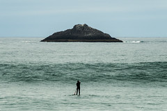 Life's challenges (Ian@NZFlickr) Tags: paddle board st clair waves white island dunedin nz
