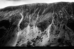 Wastwater Screes (Graeme Tozer) Tags: scree mountains england wastwater lake blackandwhite uk lakedistrict
