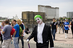 Jokes (jamiethompson01) Tags: comic con 2017 london excel dlr movies marvel video games pop culture batman spiderman star wars mcm multigenre fan convention bank holiday street candid martin parr british uk england people event day sony ilce7m2 fe 55mm f18 za portrait joker
