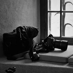At Rest (brandsvig) Tags: may 2014 d800 nikon vila resting pause paus window bw camera kamera z
