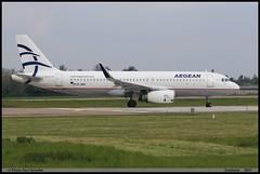AIRBUS A320 232 AEGEAN AIRLINES SX-DNC 6961 Entzheim avril 2017 (paulschaller67) Tags: airbus a320 232 aegean airlines sxdnc 6961 entzheim avril 2017