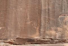 Petroglyphs / Sand Island Site (Ron Wolf) Tags: anthropology archaeology bearsearsnationalmonument nationalpark nativeamerican sandisland anthromorph anthropomorph atlatl digitated panel petroglyph rockart snake wavyline zoomorph california basketmaker