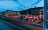 Station Square (20170528-DSC03123) (Michael.Lee.Pics.NYC) Tags: pittsburgh stationsquare southside mountwashington monongahelaincline train lighttrail traffictrail plerr night twilight bluehour architecture cityscape sony a7rm2 voigtlanderheliar15mmf45