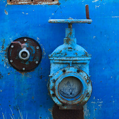 Hydraulics blues ( lost and found) (sandroraffini) Tags: urban exploration industrial archeology relics decay fragments abstract reality hydraulics machinery dreaming old submarines canon 70200 sandroraffini surreal details handles blues minimalism sommerso dal tempo time ruby5