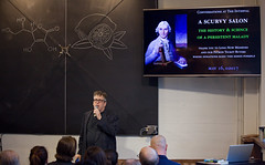 Scurvy Salon at The Interval, May 02017 (Long Now) Tags: longnow conversationsattheinterval interval events 02017 chalkboard chalk otto scurvy salonevent