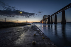 Forthright (andyrousephotography) Tags: forthrailbridge forthroadbridge queensferrycrossing bridges firthofforth southqueensferry jetty slipway lifeboat evening dusk sunset bluehour clouds lamps lights starbursts longexposure le leefilters ndgrads andyrouse canon eos 5d mkiii ef1740mmf4l