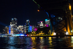 VIVID 2017 Vivid Sydney Harbour under bridge-2