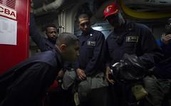 170602-N-HV059-015 (CNE CNA C6F) Tags: ussleytegulfcg55 sailors ships usnavy training cbrdrill gasmasks