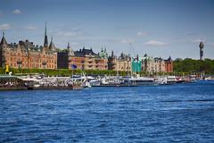 Stockholm (edxge84) Tags: stockholm strandvägen kaknästornet båtar turism turister