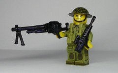 Weird War Tommy with MkX Hotchkiss MG and L85A1 (enigmabadger) Tags: brickarms lego custom minifig minifigure fig weapon weapons accessory accessories combat war world production new prototype
