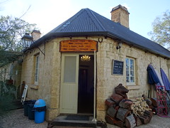 Overland Corner Hotel on the Murray River. Built 1859. Opened 1860. Closed 1897. Re opened as a licensed hotel in 1987. Current licensees from 2012. (denisbin) Tags: overlandcorner rivermurray overlandcornerhotel grave cemetery house postoffice museum courtyard bland fire fireplace