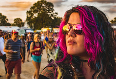 Bonnaroo Sam (C.M. Hovinga) Tags: girl woman bonnaroo pink hair sunset glasses tattoo festival bonnaroo2017 abigfave