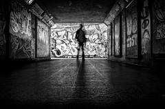 The Bear pit - Bristol (Daz Smith) Tags: dazsmith fujixt20 fuji xt20 andwhite bath city streetphotography people candid portrait citylife thecity urban streets uk monochrome blancoynegro blackandwhite mono silhouette bristol bearpit graffitti art mural