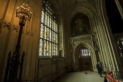 NH0A7112s (michael.soukup) Tags: westminster palace london uk unitedkingdom england houseofcommons thames gothic architecture stainedglass hall royalgallery fresco statue