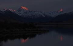 Sunrise over Mt D'Archiac Lake Clearwater New Zealand (Maureen Pierre) Tags: lakeclearwater sunrise newzealand red sky clouds mountdarchiac cloudsstormssunsetssunrises