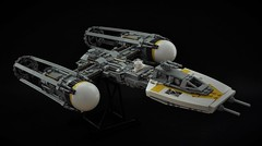 BTL-A4 Y-wing (1) (Inthert) Tags: lego moc star wars btl a4 y wing fighter rebel alliance gold squadron koensayr manufacturing greebling rogue one new hope space