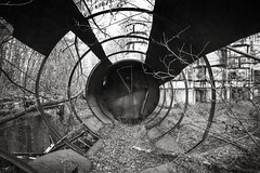 Remember the fallen, Chernobyl (Sean Hartwell Photography) Tags: chernobyl nuclear powerstation accident abandoned circular rusty decay reactor5 ukraine radiation radioactive desolation apocalyptic blackandwhite monochrome canoneosm3