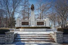 Memorial Park Monument (Oshawa, Ontario) (♡✌ Kᵉⁿ Lᵃⁿᵉ ✌♡) Tags: can canada geo:lat=4389436891 geo:lon=7886265814 geotagged ontario oshawa oshawasoutheast architecture armedforces armedforcesmemorial art canadasmotorcity centrestreetsouth cityofoshawa durhamregion greatertorontoarea johnstreetwest memorial memorialpark memorialparkoshawa metcalfstreet monument mural oshawamemorialpark preparetobeamazed simcoestreetsouth thegardenoftheunforgotten touristattraction travelphotography warmemorial wwwoshawaca