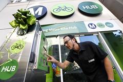 Metro Bike Hub opening at Hollywood/Vine Station (Metro - Los Angeles) Tags: bikehub hollywoodvinestation redline hollywood fta bikeparking bicycle metro mta
