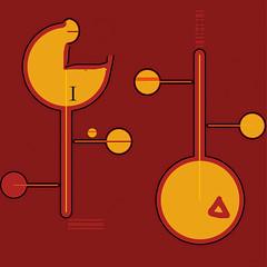 Couple (Jérôme Vallet) Tags: jv jérômevallet fuly estampenumérique cercles rouge jaune