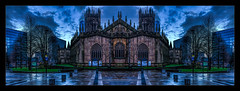 💛💜💙💚 (Kev Walker ¦ 8 Million Views..Thank You) Tags: architecture building canon1855mm citycentre england hdr lancashire manchester manchestercathedral mirrorimage northwest outdoor panorama panoramic photoborder postprocessing
