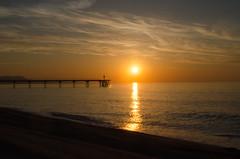 Sun ray over the sea (Santini1972) Tags: sun sea ray bridge badalona catalonia barcelona nikond5100 nikon35mm18 nikonflickraward
