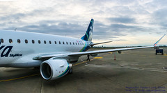 Checking Out the Embraer ERJ-175LR Wing (AvgeekJoe) Tags: d5300 dslr erj170200lr erj175 erj175lr embraer embraererj170200lr embraererj175 embraererj175lr internationalairport ksea n176sy nikon nikond5300 seatac seatacinternational seatacinternationalairport seattle seattletacomainternational seattletacomainternationalairport washington washingtonstate aircraft aircraftbeacon airplane airport aviation beacon jetliner plane winglet