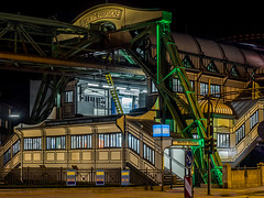 Wuppertal - Bahnhof Schwebebahn (YvoWupp) Tags: deutschland wuppertal schwebebahn night city olympus omd10 mft station germany europe europa 40150mm bahnhof railway nacht