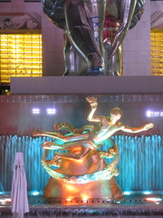 Gold Prometheus Statue by Paul Manship 6227 (Brechtbug) Tags: seated ballerina mylar balloon night art sculpture by jeff koons 2017 rockefeller center nyc 30 rock new york city standing up above ice rink gold prometheus statue paul manship giant decoration ornaments 05202017 nights nite nites lights lites light oversize load ornament summer spring kids toy kitsch 60s toys sculptures statues pretty evening lobby plaza plant plants plastic artist