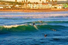 Pismo Beach, California (larsling) Tags: pismobeach california highway1 surfmecka pier surfschool pismo ocean pismopier waves surfboards