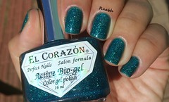 Kryptonite - El Corazón (Raabh Aquino) Tags: teal nails unhas holográfico