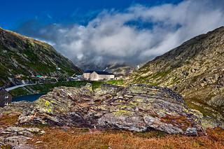 Col du Grand-Saint-Bernard , Great St Bernard pass ,summer's stormy time. No. 2269.