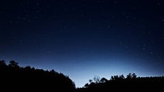 Neumondnacht . . . (norbert.r) Tags: night space sky nature dark starfield blue landscape 20mm astronomy backgrounds flickrchallengegroup galaxy gx80 himmel lumix milkyway pancake prime starspace zen