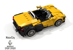MotorCity Renault Sport Spider (lego911) Tags: motorcity renault sport spider barchetta convertible 1996 1990s racer auto car moc model lego lego911 ldd render cad povray lugnuts challenge 115 thefrenchconnection french connection france