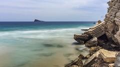 Playa Levante, Benidorm (RattySV) Tags: rocks seascape beach playalevante benidorm longexposure slowshutterapp iphonephotography iphone