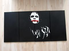 Joker - why so serious? - Kunstwerk / Artwork (pop-art-world_de) Tags: popartportrait schwarzweis leinwand acrylleinwand acryl acrylmalerei acrylbilder wallpaper batman thedarkknightrises joker film dvd poster heath ledger heathledger