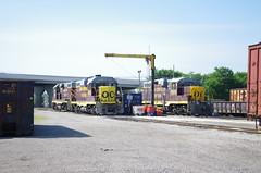 Ohio Central (Fan-T) Tags: 6642 ohio central gw youngstown brier hill sd18 gp11 ple boxcar erie el railroad