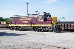 Ohio Central 6642 (Fan-T) Tags: 6642 ohio central gw youngstown brier hill sd18 gp11 ple boxcar erie el railroad