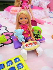 Little sister had to join (flores272) Tags: chelseadoll sleepover slumberparty sleepoverparty monsterhigh monsterdoll barbiedoll barbie doll food dolls dollclothing dollfood toy toys