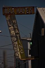 MAX HAYES (akahawkeyefan) Tags: sign fresno davemeyer old rusty