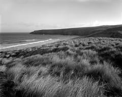 Holywell Dunes (Jonathan Woods Photography) Tags: ebony sv45te large format film nikkor 90mm fuji acros landscape cornwall holywell mono black white coast sunrise
